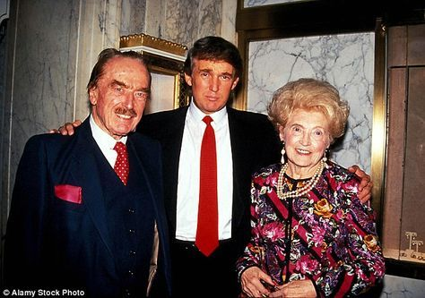 Donald Trump, with his father Fred and mother Mary in 1992. Fred, who started out as a housebuilder in Queens, met the young Scottish immigrant in 1934