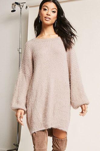 df42213d870 Fuzzy Knit Dress