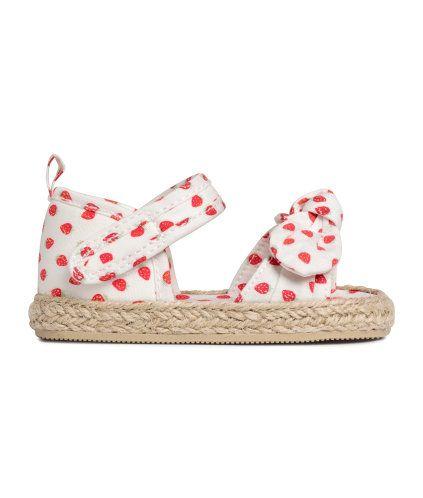 Sandalen met strik | Product Detail | H&M