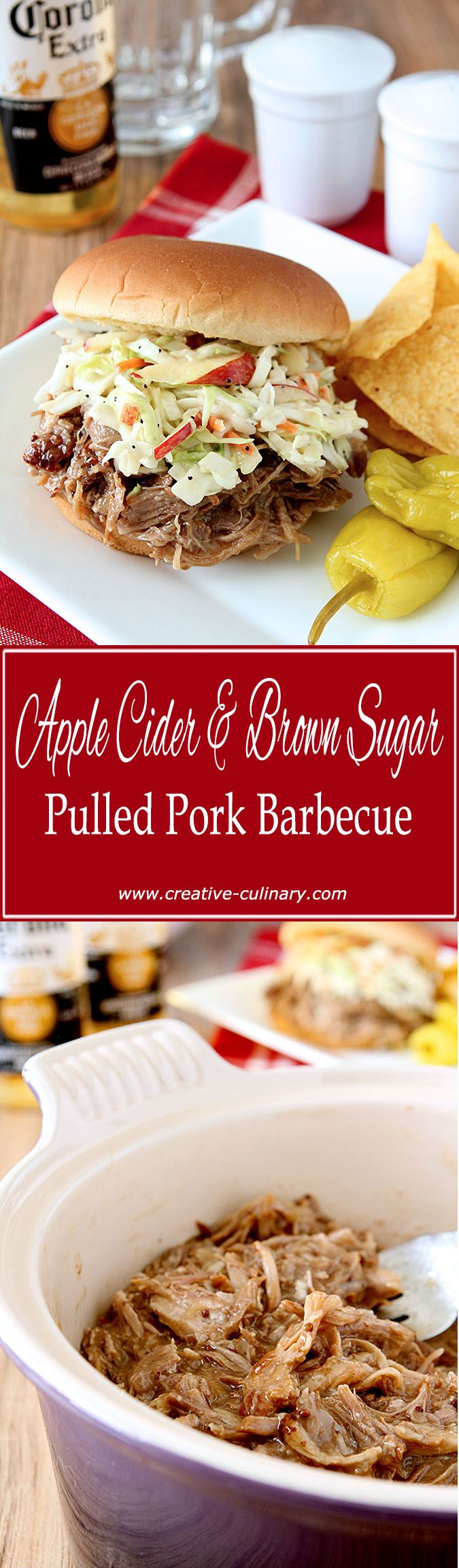 The perfect barbecue pork sandwich includes this Apple Cider and Brown Sugar Pulled Pork Barbecue! via @creativculinary