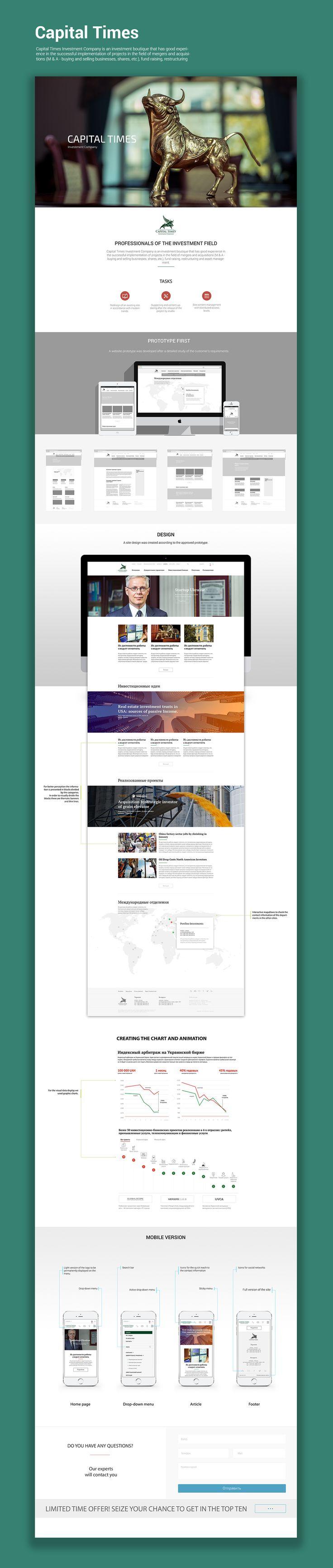 Capital Times Website on Behance