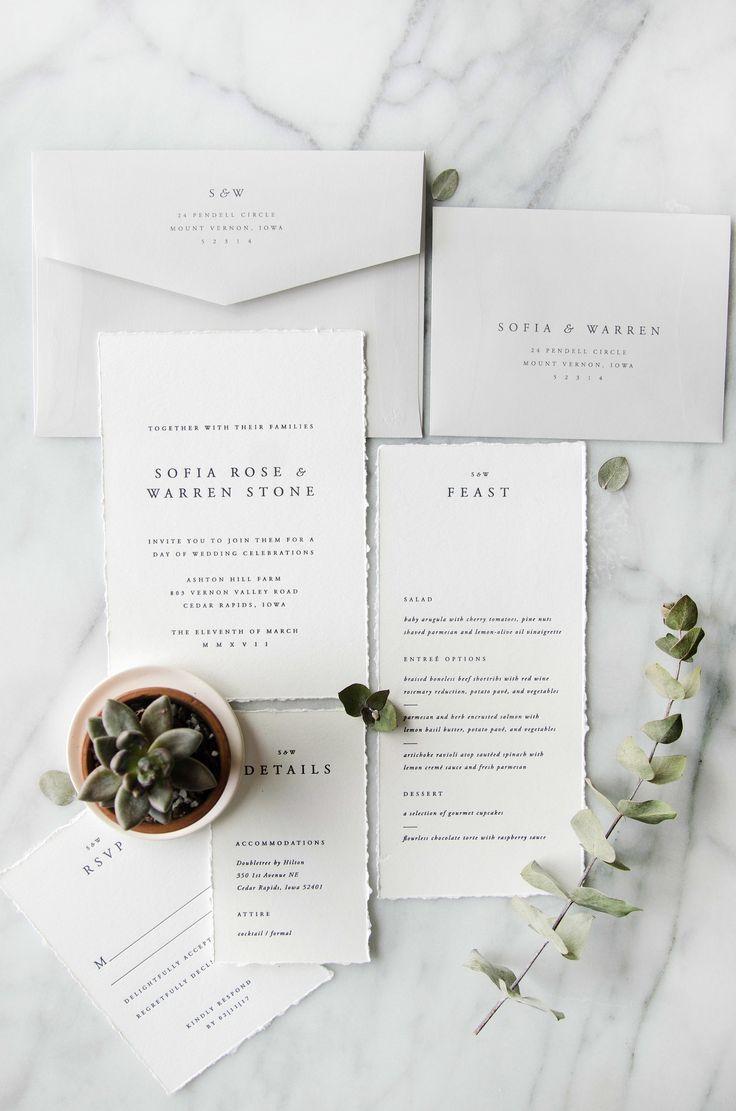 The Sofia 5 Piece Suite Classic Wedding InvitationsWedding