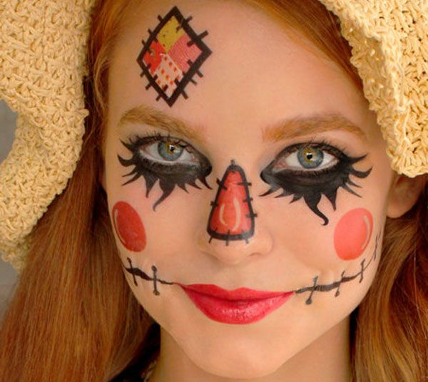 Maquillaje infantil de muñeco de paja