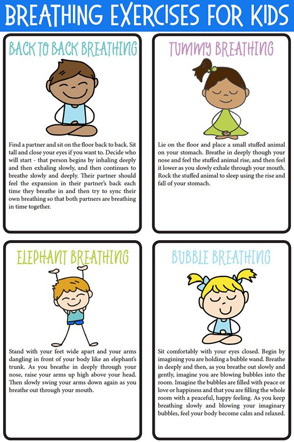 8 Fun Breathing Exercises for Kids at Home or School {Printable ...