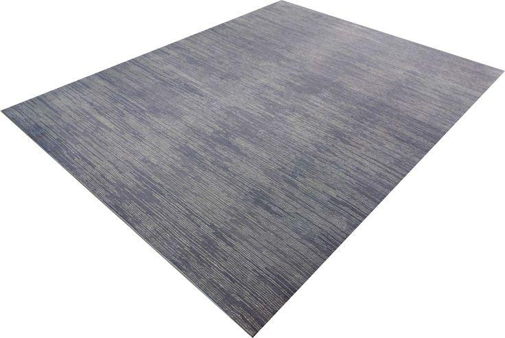 Nemoh Silver Stripes - Gemütlicher Teppich aus feiner Mohair-Wolle.
