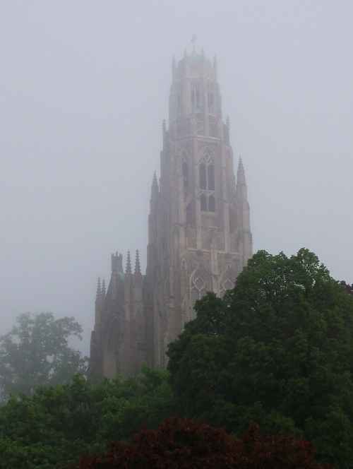 The Cathedral on a foggy morning.