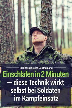 Einschlafen in 2 Minuten ─ diese Technik wirkt selbst bei Soldaten