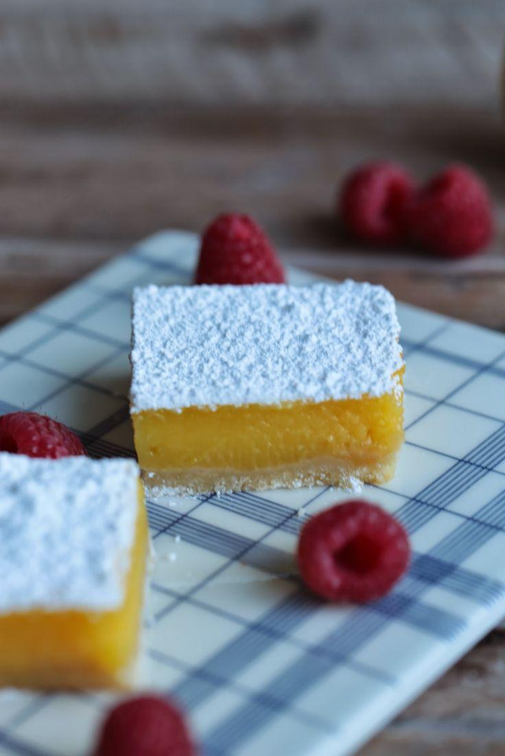 """Carrés américains au curd de citron , """"lemon squares """""""