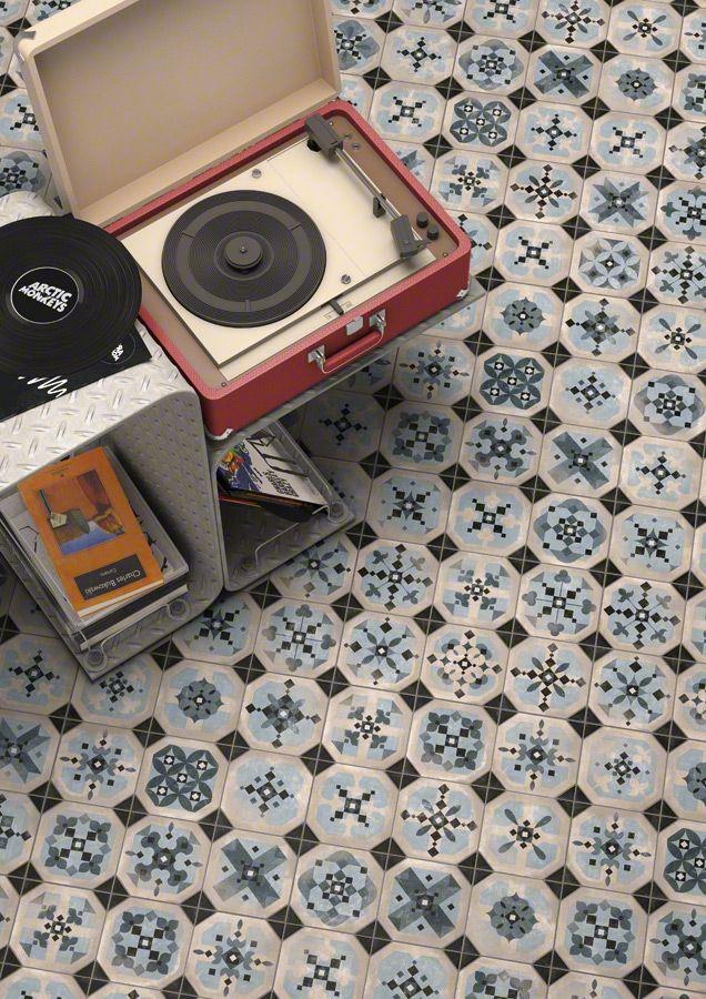 Vintage Old Blue Tiles