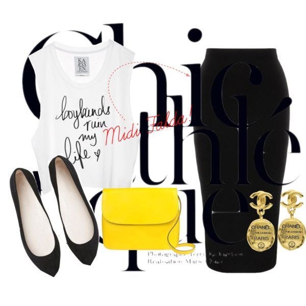 """Midi Falda"" by rocio-mercedes on Polyvore"