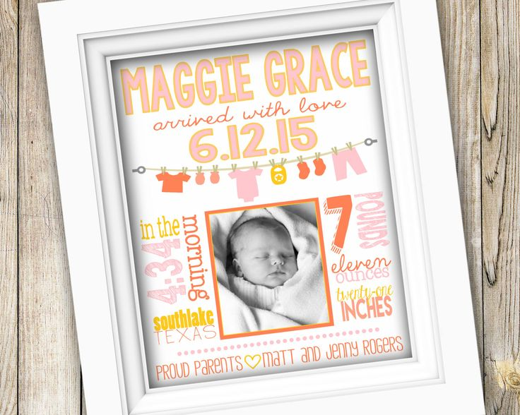 25 best baby girl boy birth stats announcements nursery wall baby birth stats poster printable birth announcement personalized digital image birth stats print negle Choice Image