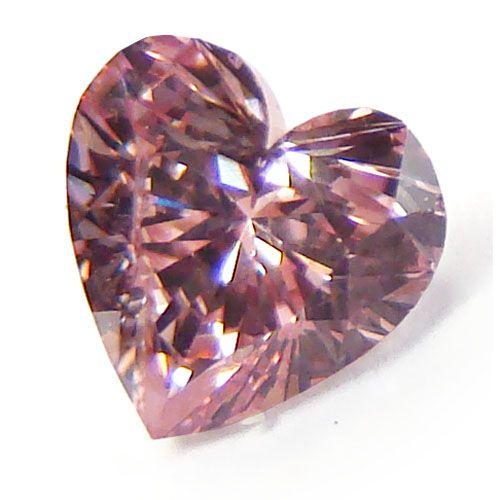 0.46ct Heart Fancy Intense Pink Diamond