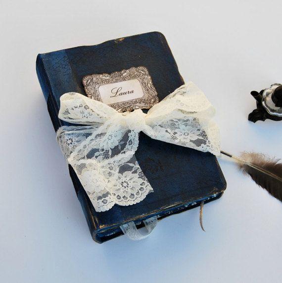 Wedding guest book, fairytale wedding, Mediterranean  wedding. memory book, photo album. 22x16 cm.