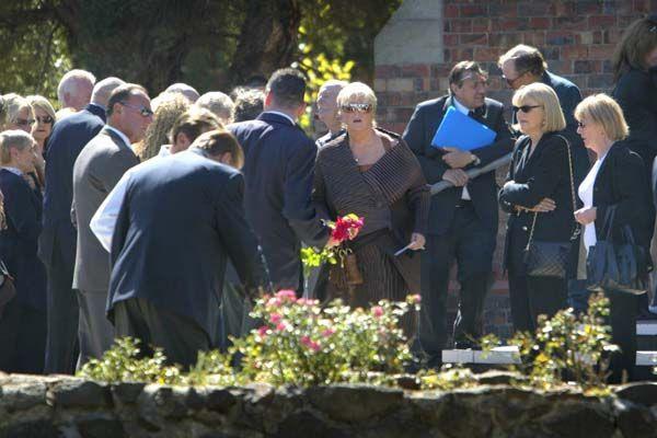 Judy Moran at the funeral of her husband Lewis Moran in Essendon, April 6 2004. Photo: Paul Harris
