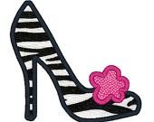 Ooo La La Shoe Applique Machine Embroidery Design