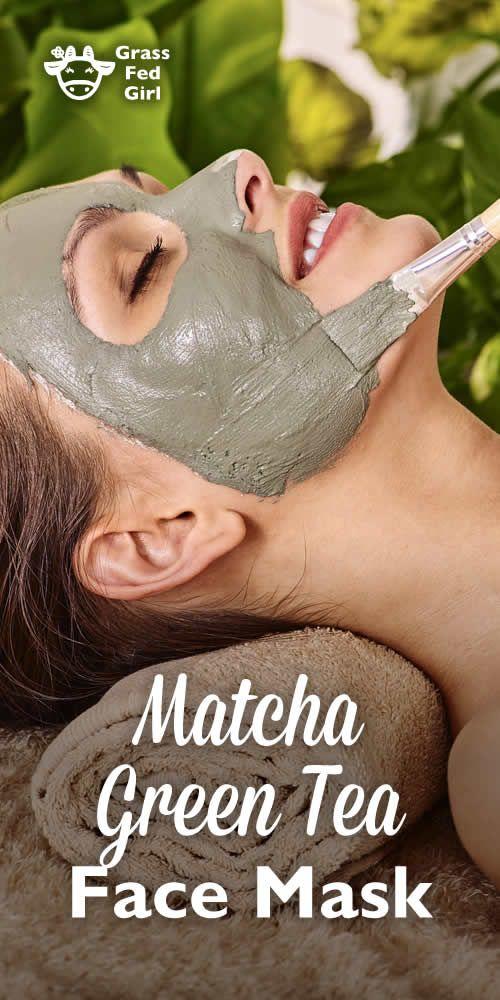 Matcha Green Tea Face Mask | http://www.grassfedgirl.com/matcha-green-tea-face-mask/