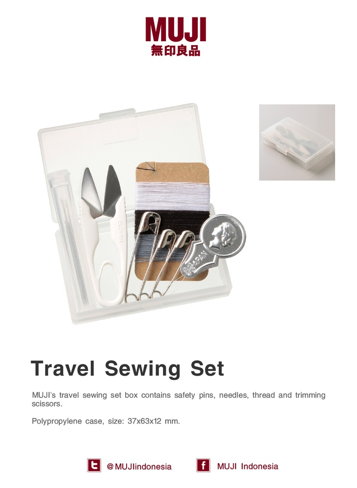 [Travel sewing set] Small and compact. Basic things to carry when you're travelling.