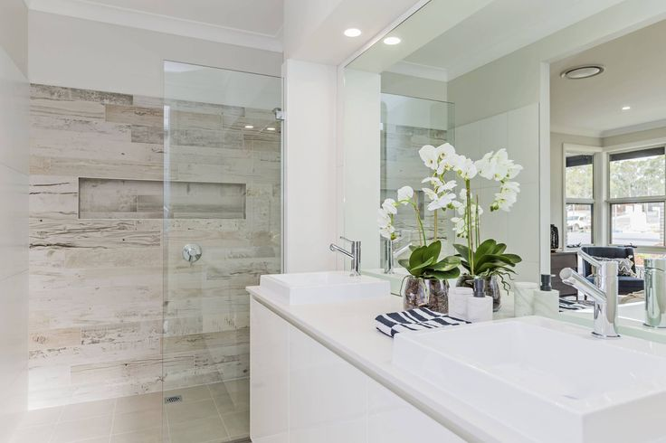 Super sleek and on trend. Do you wish you had a bathroom like this? We do...