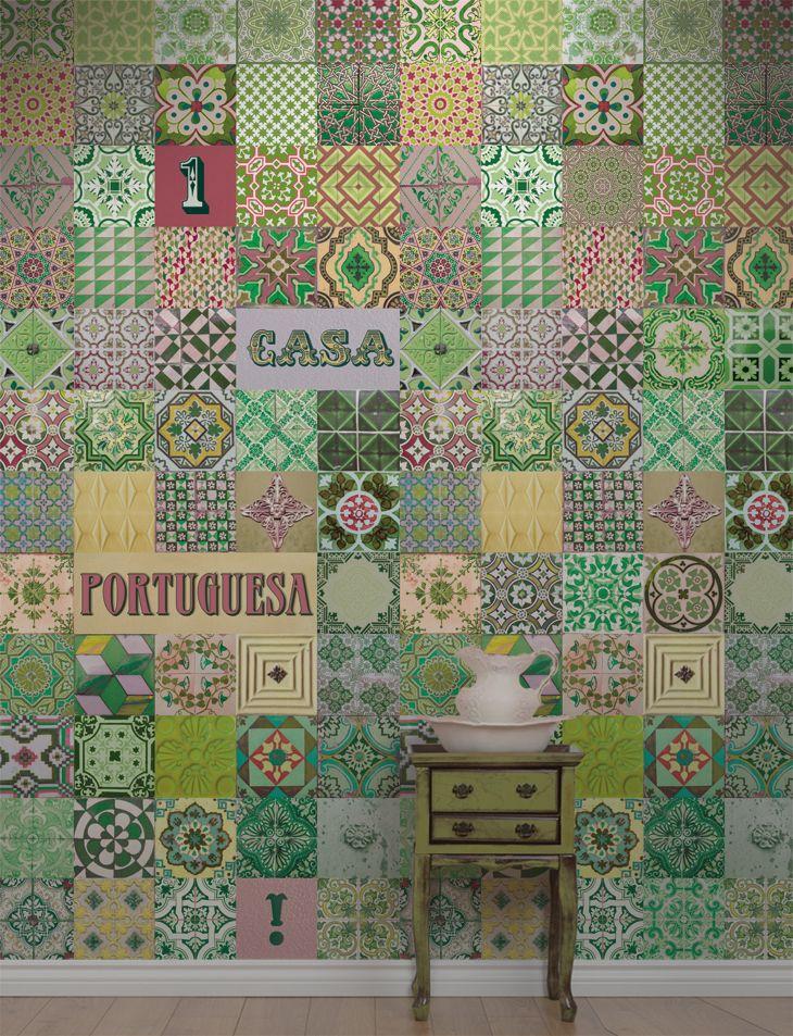 Azulejo Português Verde (Portuguese Tile Green)