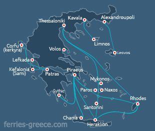 Naxos ferry-boats – bateaux pour l'île de Naxos Cyclades Grèce – Costanza D'Alessandro