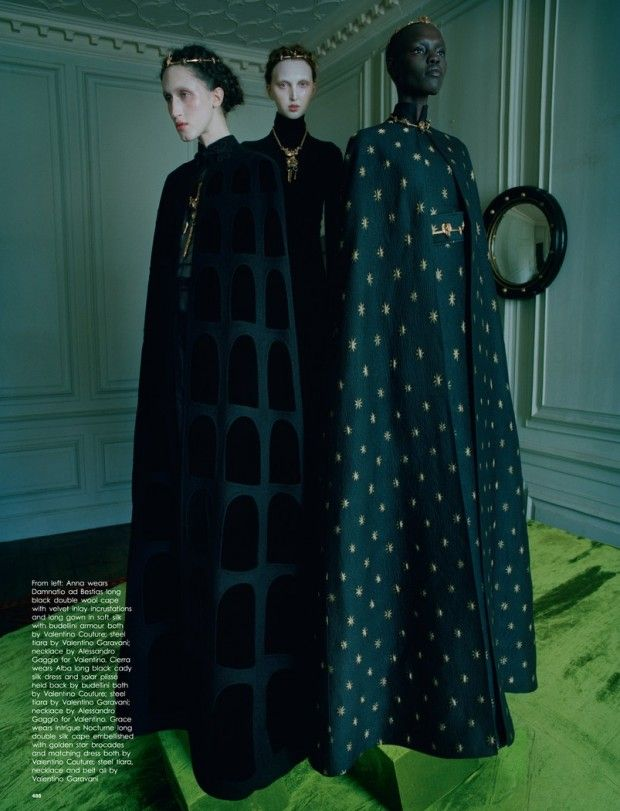 Tim Walker pays tribute to Hieronymus Bosch with a fashion story for Love Magazine Spring 2016 - Valentino Fall 2015 Haute Couture