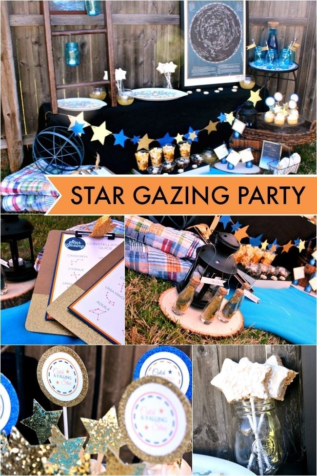 Unique Stargazing/Birthday Party for Boys www.spaceshipsandlaserbeams.com