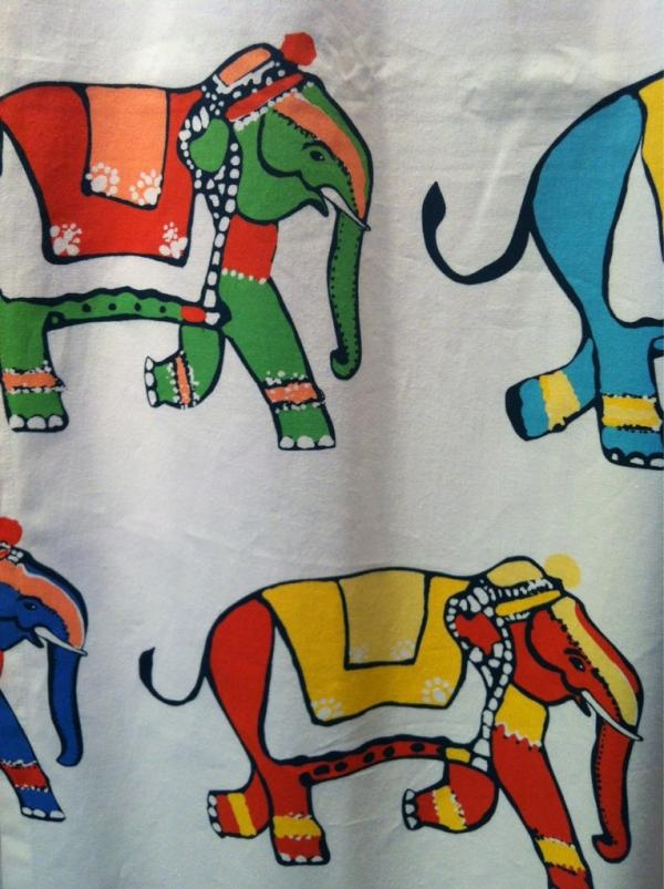 Love this elephant fabric from lulu dk 39 s new child line for Childrens elephant fabric