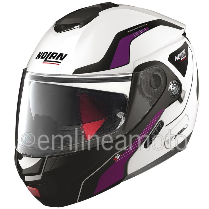 Casque Intégral Ouvrable Nolan N90 2 Straton 19 Metal White - S