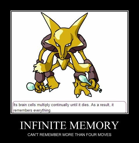 Pokemon Logic | Don't think of it as it forgets a move. Think of it as he just can't use four moves at once. (._.)