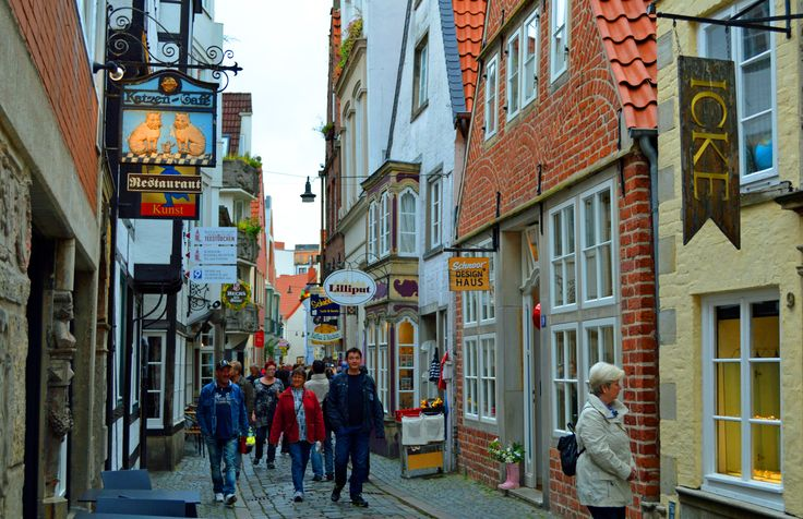 The Schnoor quarter is a maze of lanes lined with little15th and 16th century houses.