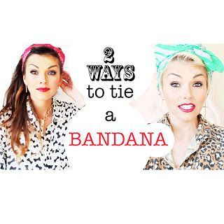 kandeej.com: How To Tie A Bandana in Your Hair 2 Ways Like this.
