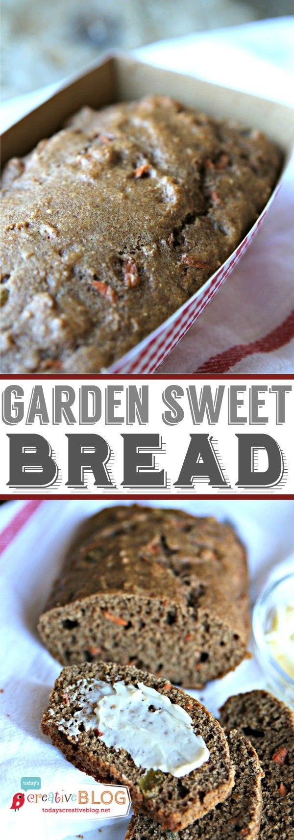Garden Sweet Bread Recipe | TodaysCreativeBlog.net