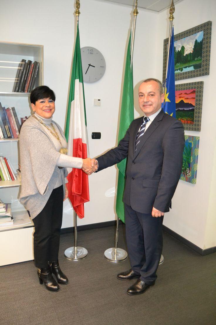 Regione Lombardia, 4 febbraio - Assessore Valentina Aprea e il Vice Ministro Bulgaro Galab Donev