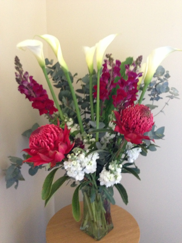 Doing flower arrangements