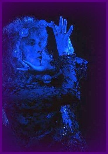 Stevie ~ ☆♥❤♥☆ ~ Coloured Blue, Her Lovely Face Framed By Her Tambourine;
