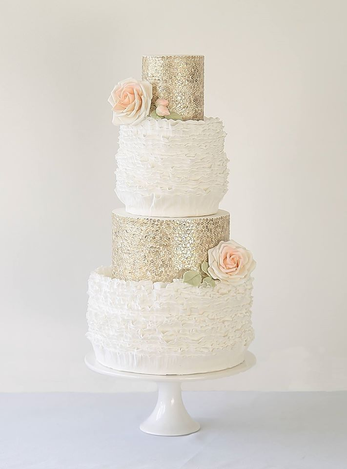 Daily Wedding Cake Inspiration (New!). To see more: http://www.modwedding.com/2014/08/07/daily-wedding-cake-inspiration-new-8/ #wedding #weddings #wedding_cake Featured Wedding Cake: The Abigail Bloom Cake Company: