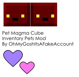 Papercraft Pet Magma Cube (Inventory Pets Mod) (40th Follower Special)