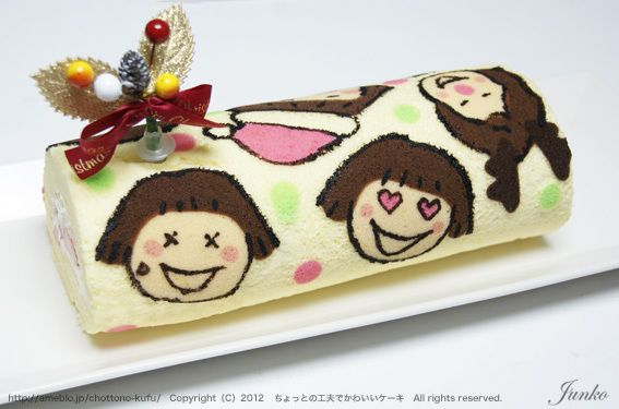 Junko - decorated swiss roll