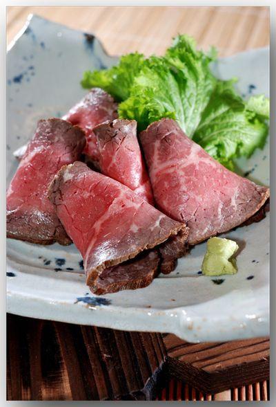 牛のたたき .......... 和のテイストで丼にもオススメ! 〜蒸すVer.〜