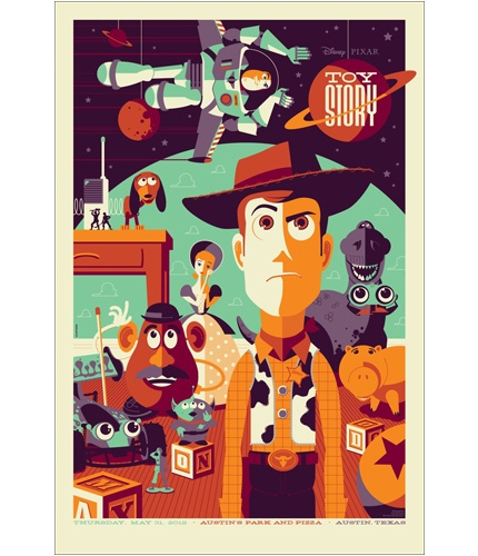 TOY STORY screenprint by Tom Whalen for Mondo. 24x36. - This poster is made of so much win. I will have to own it one day...