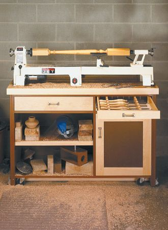 Mini-Lathe Stand | Woodsmith Plans                                                                                                                                                                                 More