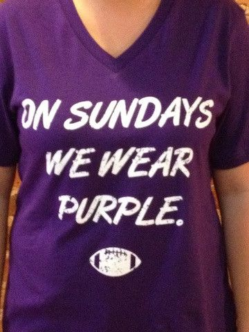 on Sundays we wear purple! love mean girls & ravens!