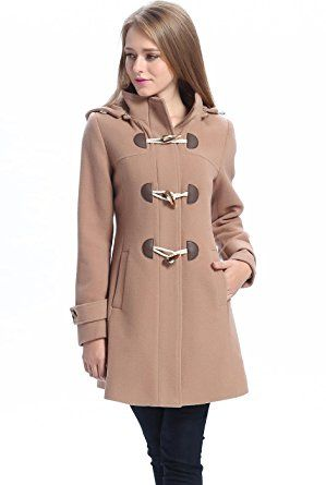 "Amazon.com: BGSD Women's ""Daisy"" Missy & Plus Size Wool Blend Toggle Coat: Clothing"