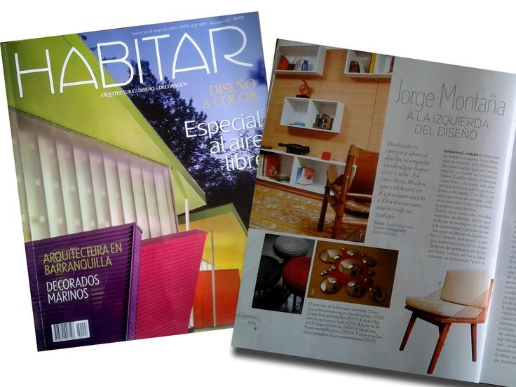 Nuestra silla Mujer en la más reciente edición de la revisa Habitar, Mayo de 2013.   Donde el reconocido Diseñador Jorge Montaña, selecciona nuestro producto como un buen Diseño Colombiano para tener en cuenta.