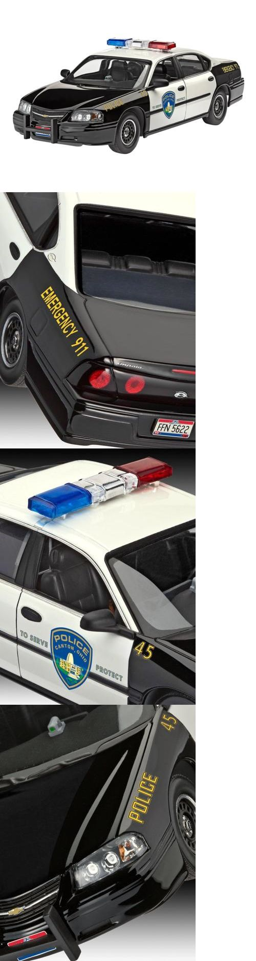 Classic 2581: Model Kit - Chevy Impala Police Car 1:25 Scale -> BUY IT NOW ONLY: $33.56 on eBay!