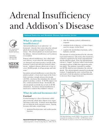 Adrenal Insufficiency and Addisons Disease