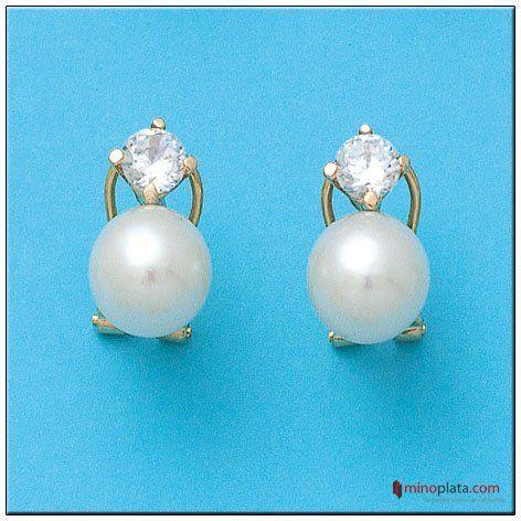 pendientes oro y perlas pendientes novia joyeria online pendientes realizados en oro de