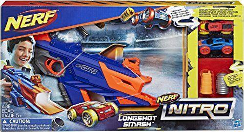 Nerf – C0784EU40 – Nitro Longshot Smash: > La mousse iconique des fléchettes déclinée en petites voitures qui s'envolent La puissance Nerf…