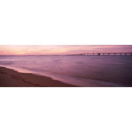 Chesapeake Bay Bridge MD Canvas Art - Panoramic Images (38 x 12)
