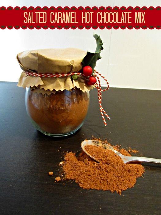 De ultieme warme chocolademelk mix! Maak deze salted caramel hot chocolatemix als kado of gewoon voor jezelf.